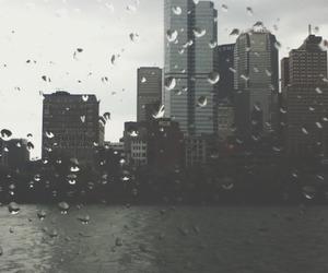 city, rain, and grunge image
