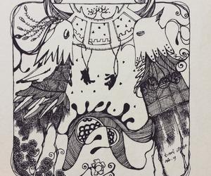black, illustration, and drawing image