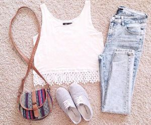 casual, clothes, and purse image