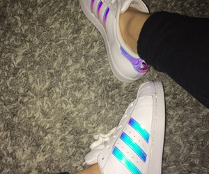 adidas, color, and holographic image