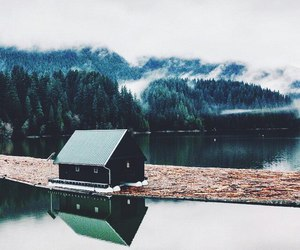 house, nature, and travel image