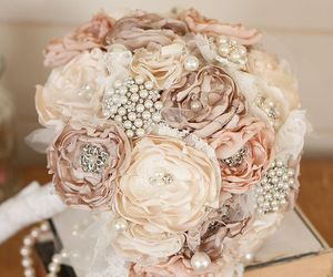 bouquet, bridal, and cream image