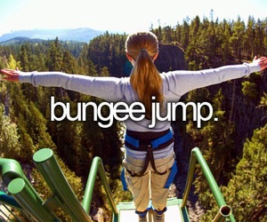 bungee jump and bucket list image