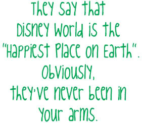 They say Disney World is \
