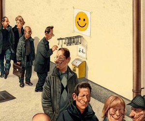 smile, sad, and people image