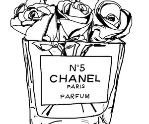 chanel, outline, and fashion image
