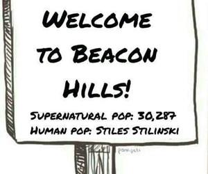 teen wolf, beacon hills, and stiles stilinski image