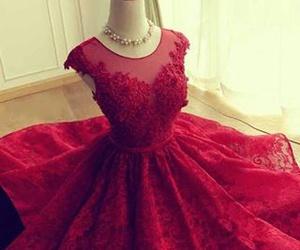 dress, encaje, and fashion image