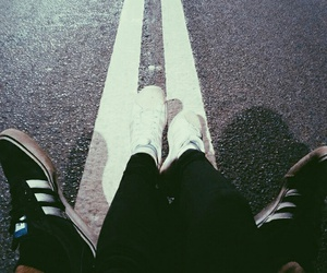 adidas, couple, and road image