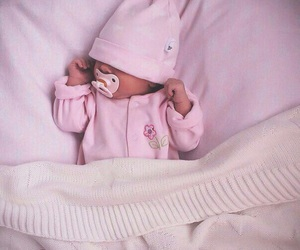 baby, pink, and kids image