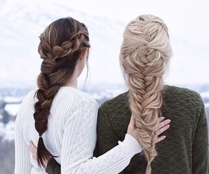 hair, braid, and friends image