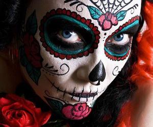 make up, makeup, and Halloween image