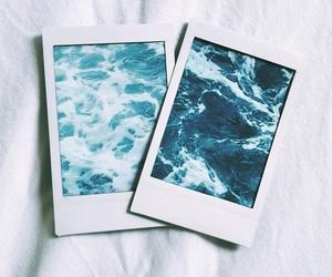 instax, ocean, and polaroid image