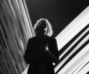 black and white, hillsong united, and music image