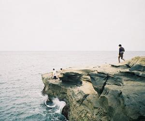 boy, sea, and ocean image