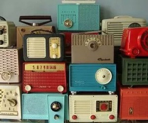 radio, vintage, and retro image