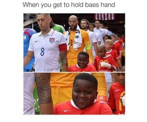 funny, bae, and soccer image