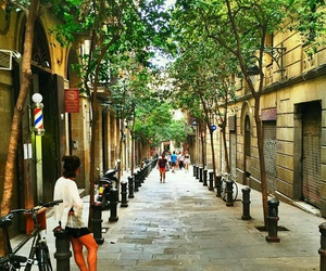Barcelona and streets image