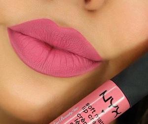 lips, pink, and makeup image