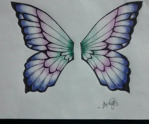 art, pen, and butterfly image