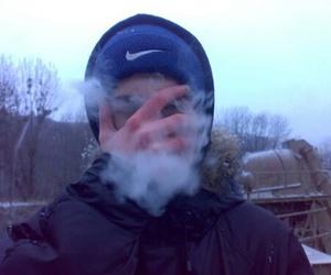 boy, smoke, and nike image