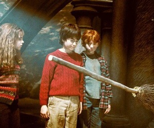 harry potter, ron weasley, and emma watson image