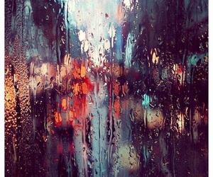 rain, light, and city image