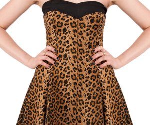 dress, leopard print, and Pin Up image