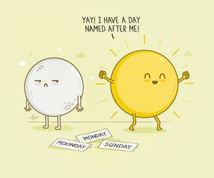 sun, moon, and Sunday image