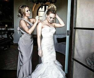 wedding, dress, and Hilary Duff image