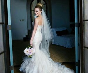 wedding dress, Hilary Duff, and wedding image