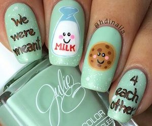 cookie, milk, and nails image