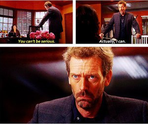 funny, house md, and hugh laurie image