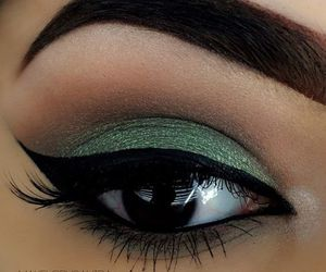 eyes, eyebrows, and eyeliner image