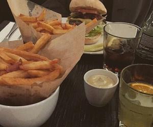 burger, burgers, and coke image