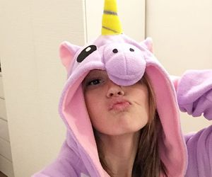 girls, unicorn, and onesie image
