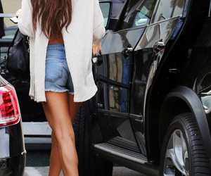 selena gomez, hair, and outfit image