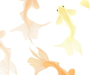 goldfish, background, and good luck image