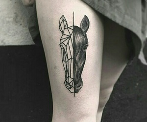 horse, tatto, and 👌 image