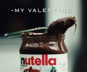 nutella, valentine, and chocolate image