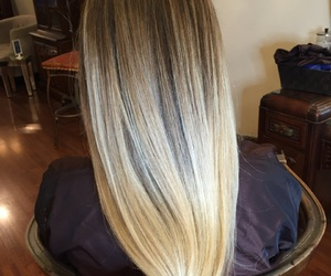blonde, highlights, and sombre image