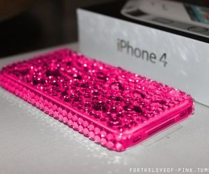 iphone, pink, and iphone 4 image
