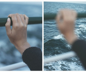 hand, sea, and indie image