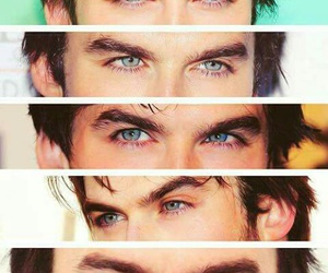 ian somerhalder, eyes, and damon salvatore image