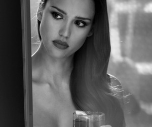 black and white, photography, and jessica alba image