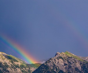 landscapes, mountains, and rainbows image