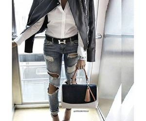 fashion, hermes, and jeans image