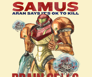 games, gaming, and metroid image