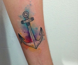 anchor, colors, and ink image