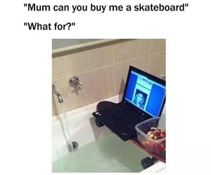 funny, lol, and skateboard image